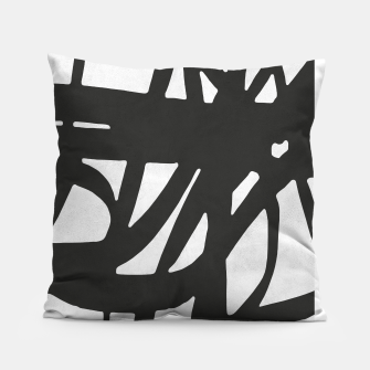 Thumbnail image of Black and white expressionism Pillow, Live Heroes