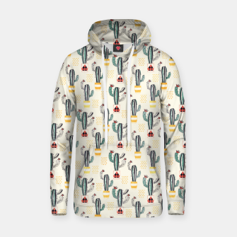 Thumbnail image of Cactus in a Pot Cotton hoodie, Live Heroes