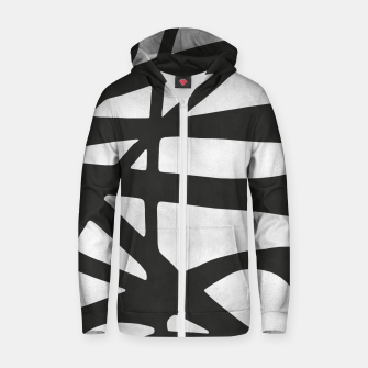 Thumbnail image of Black and white expressionism I Cotton zip up hoodie, Live Heroes
