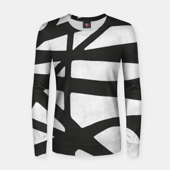 Thumbnail image of Black and white expressionism I Woman cotton sweater, Live Heroes