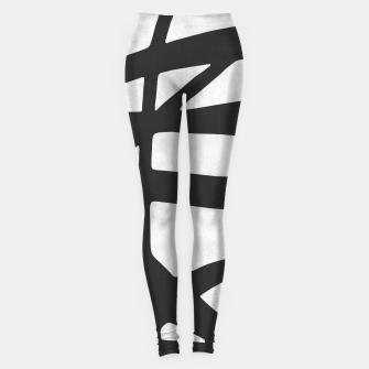 Thumbnail image of Black and white expressionism I Leggings, Live Heroes