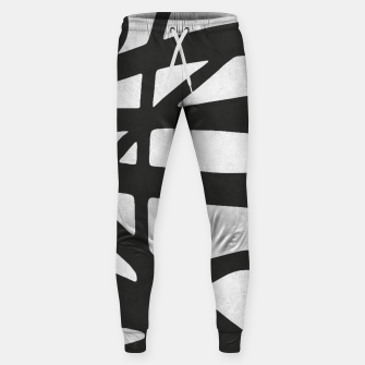 Thumbnail image of Black and white expressionism I Cotton sweatpants, Live Heroes