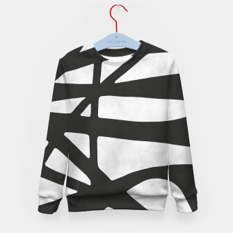 Thumbnail image of Black and white expressionism I Kid's sweater, Live Heroes