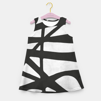 Thumbnail image of Black and white expressionism I Girl's summer dress, Live Heroes