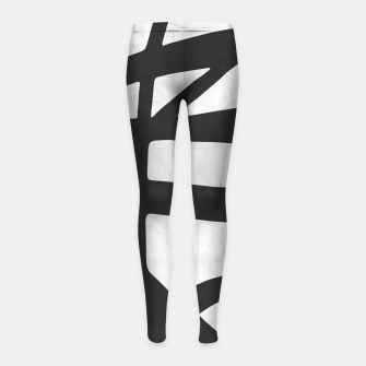 Thumbnail image of Black and white expressionism I Girl's leggings, Live Heroes