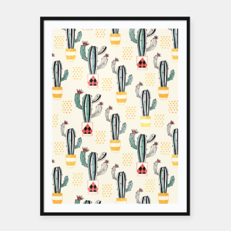 Cactus in a Pot Framed poster thumbnail image