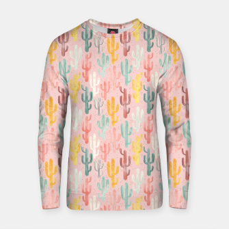 Long Multicolored Cacti Cotton sweater thumbnail image