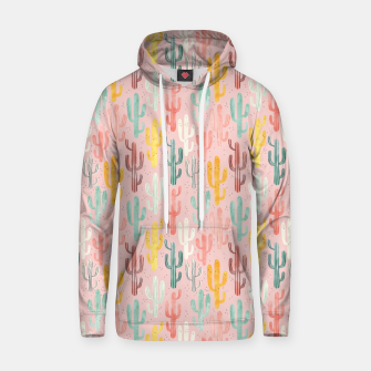 Thumbnail image of Long Multicolored Cacti Cotton hoodie, Live Heroes