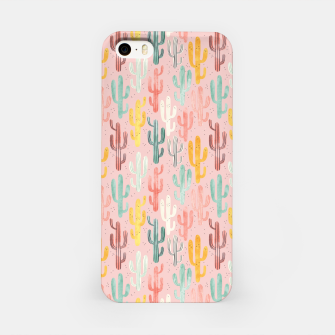 Long Multicolored Cacti iPhone Case thumbnail image