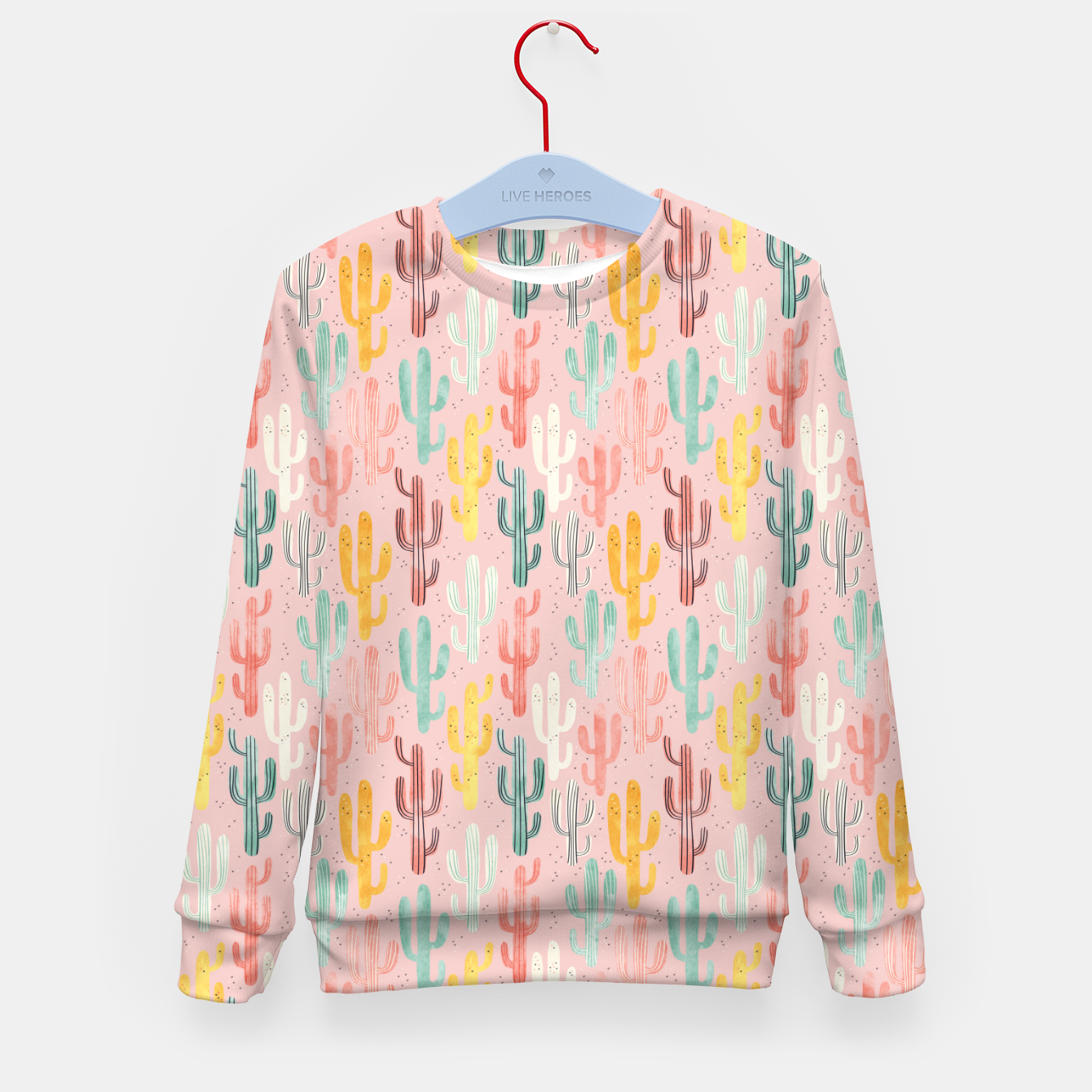 Image of Long Multicolored Cacti Kid's sweater - Live Heroes