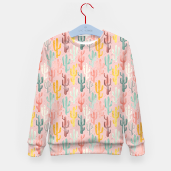 Thumbnail image of Long Multicolored Cacti Kid's sweater, Live Heroes