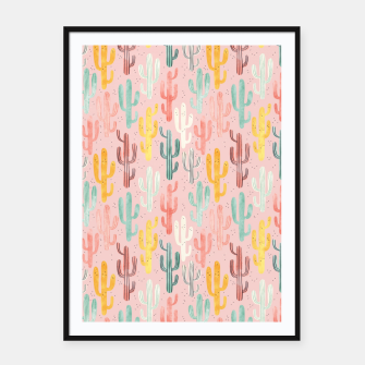 Long Multicolored Cacti Framed poster thumbnail image