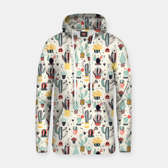 Thumbnail image of Flower Pot with Cactus Cotton hoodie, Live Heroes