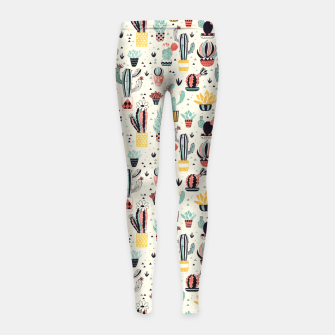 Thumbnail image of Flower Pot with Cactus Girl's leggings, Live Heroes