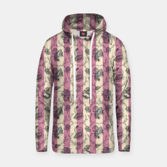 Miniatur Stripes & Shells - red Cotton hoodie, Live Heroes