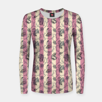 Miniatur Stripes & Shells - red Woman cotton sweater, Live Heroes