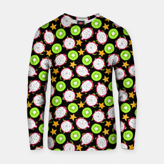 Thumbnail image of Exotic fruits on black Cotton sweater, Live Heroes
