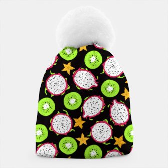 Thumbnail image of Exotic fruits on black Beanie, Live Heroes