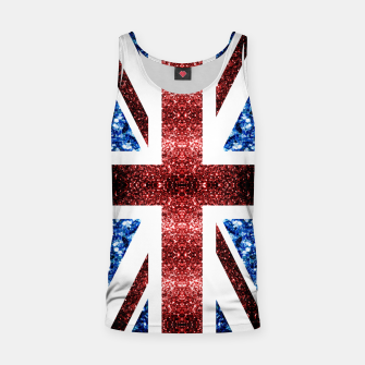 Miniaturka UK flag red and blue sparkles glitters Tank Top, Live Heroes