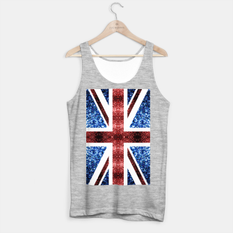 Thumbnail image of UK flag red and blue sparkles glitters Tank Top regular, Live Heroes