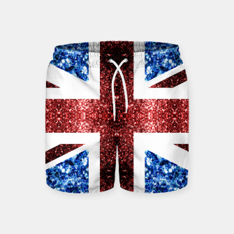 Thumbnail image of UK flag red and blue sparkles glitters Swim Shorts, Live Heroes