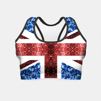 Thumbnail image of UK flag red and blue sparkles glitters Crop Top, Live Heroes