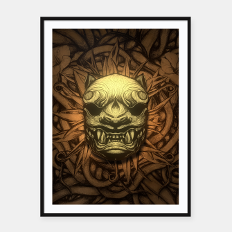 Thumbnail image of Tigre Color Framed poster, Live Heroes