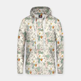 Thumbnail image of Prickly Pear Cacti and Triangles Cotton hoodie, Live Heroes
