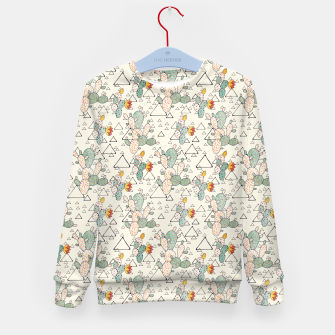 Thumbnail image of Prickly Pear Cacti and Triangles Kid's sweater, Live Heroes