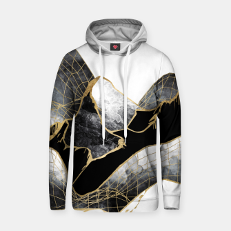 Thumbnail image of Minimal Black and Gold Mountains Cotton hoodie, Live Heroes