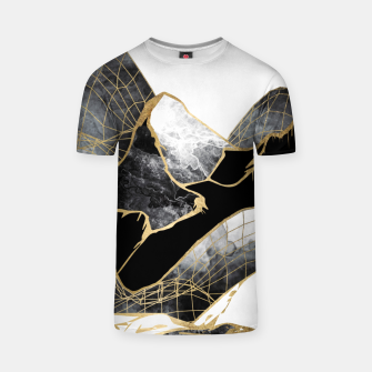 Thumbnail image of Minimal Black and Gold Mountains T-shirt, Live Heroes