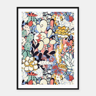 Thumbnail image of Blue Sky Succulents Framed poster, Live Heroes