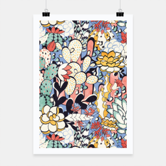 Thumbnail image of Blue Sky Succulents Poster, Live Heroes