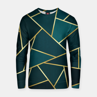 Green and gold triangular pattern Cotton sweater thumbnail image