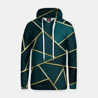Thumbnail image of Green and gold triangular pattern Cotton hoodie, Live Heroes