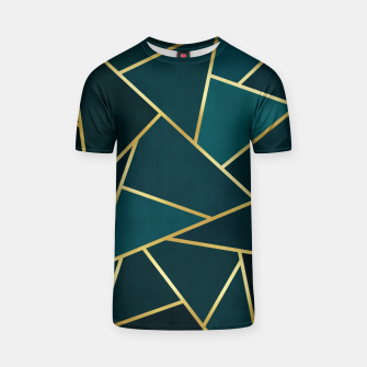 Thumbnail image of Green and gold triangular pattern T-shirt, Live Heroes