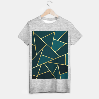 Thumbnail image of Green and gold triangular pattern T-shirt regular, Live Heroes
