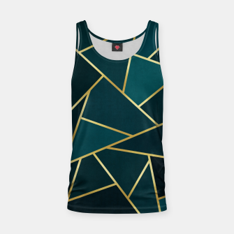 Thumbnail image of Green and gold triangular pattern Tank Top, Live Heroes