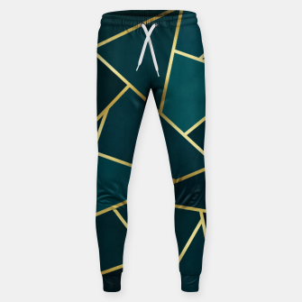 Thumbnail image of Green and gold triangular pattern Cotton sweatpants, Live Heroes