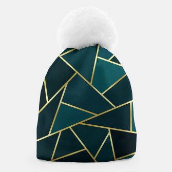 Thumbnail image of Green and gold triangular pattern Beanie, Live Heroes