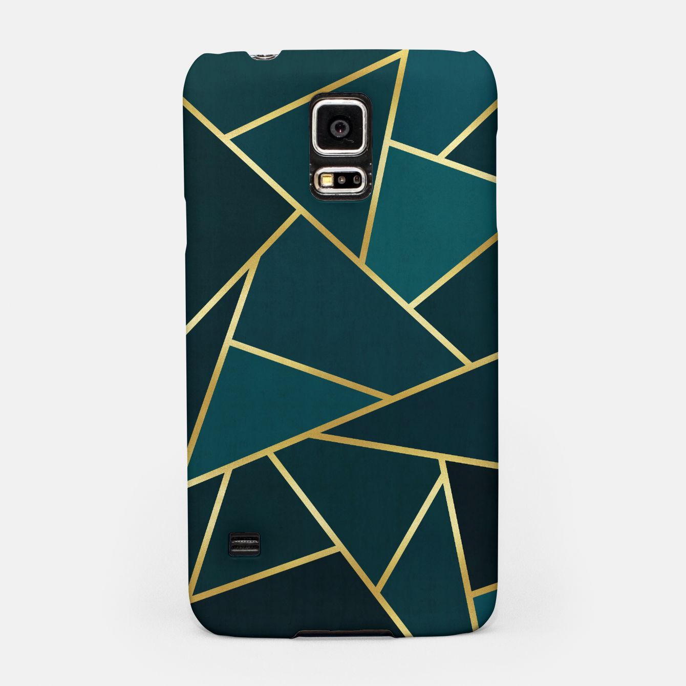 Image of Green and gold triangular pattern Samsung Case - Live Heroes