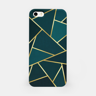 Thumbnail image of Green and gold triangular pattern iPhone Case, Live Heroes