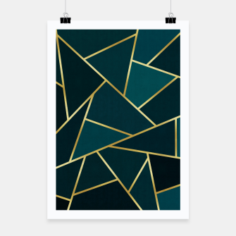 Thumbnail image of Green and gold triangular pattern Poster, Live Heroes