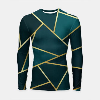 Thumbnail image of Green and gold triangular pattern Longsleeve rashguard , Live Heroes
