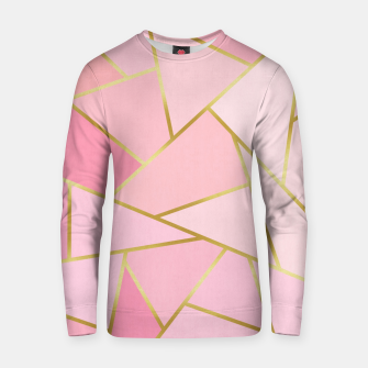 Pink and gold triangular pattern Cotton sweater thumbnail image
