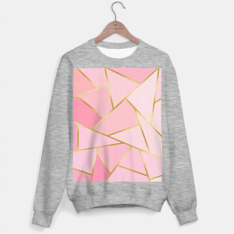 Pink and gold triangular pattern Sweater regular thumbnail image