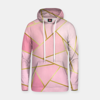 Pink and gold triangular pattern Cotton hoodie thumbnail image