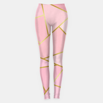 Pink and gold triangular pattern Leggings thumbnail image