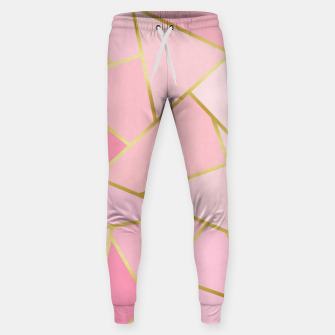 Pink and gold triangular pattern Cotton sweatpants thumbnail image