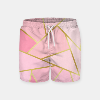 Pink and gold triangular pattern Swim Shorts thumbnail image